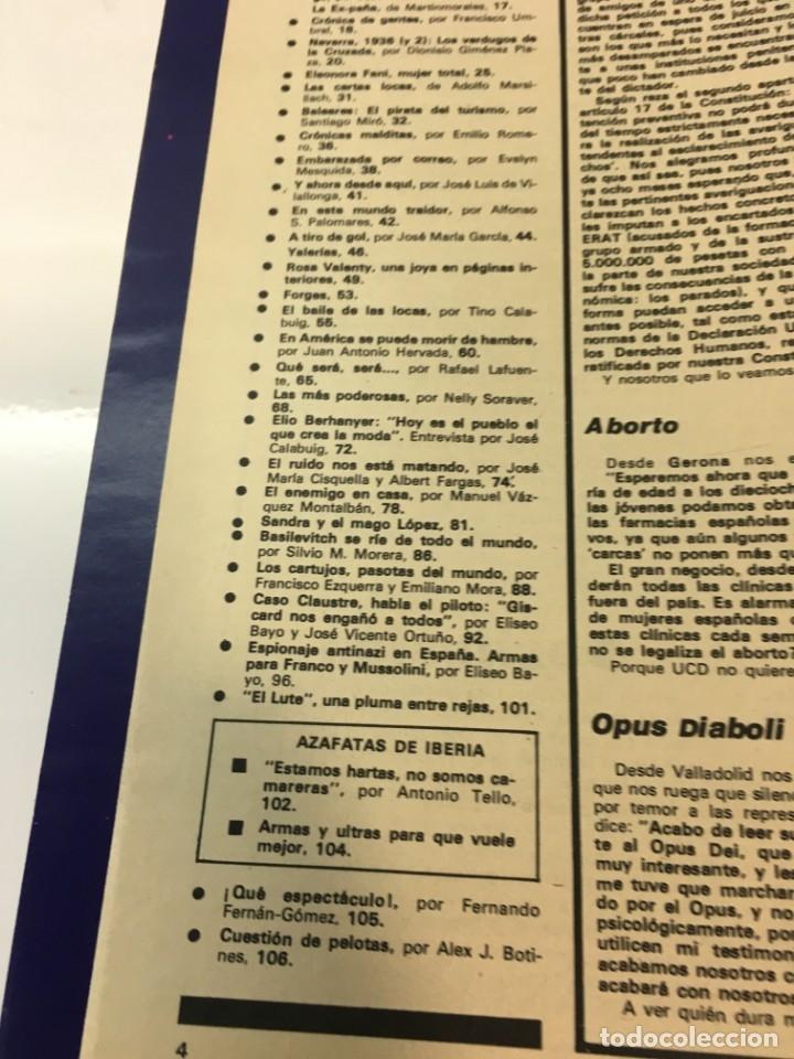 Coleccionismo de Revista Interviú: Revista Interviú número 178 año 4 ,Rosa Valenty, Eleonora Fani , 1979, años 70.Publicidad años 70 - Foto 5 - 176518832