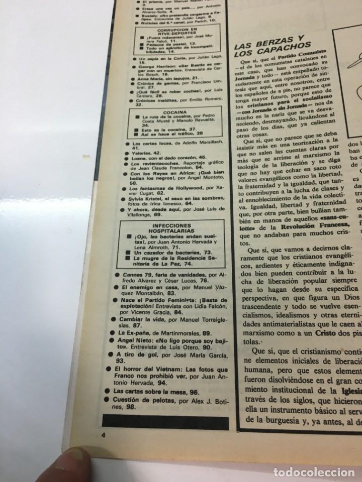 Coleccionismo de Revista Interviú: Revista Interviú, Syilvia Kristel, Anna MAria numero 159 año 4 1979. Publicidad años 70-80-90 - Foto 4 - 176519375