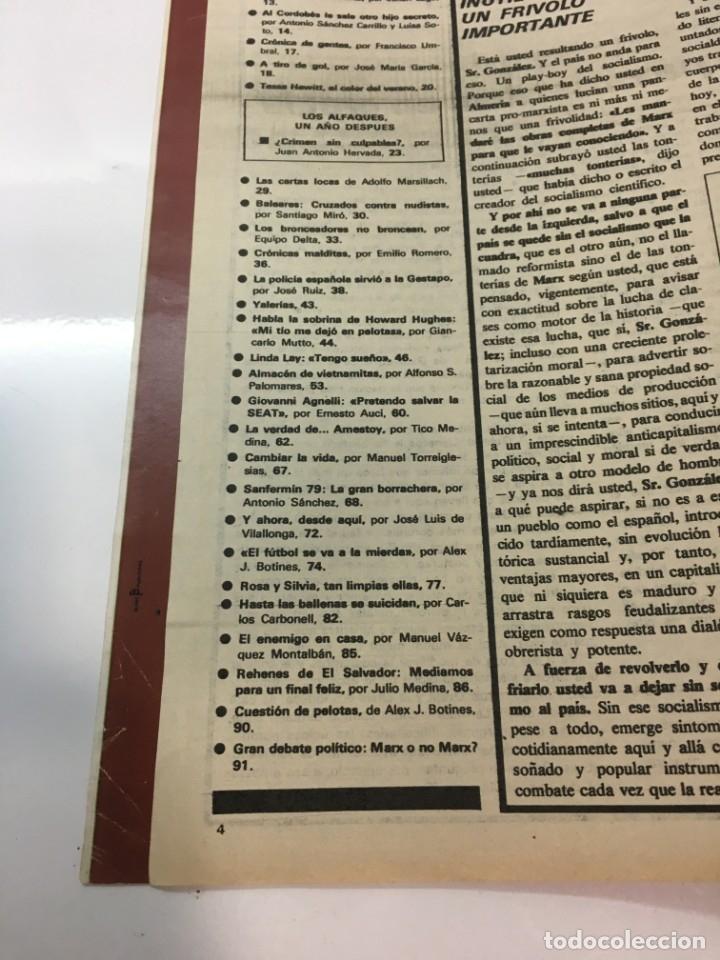 Coleccionismo de Revista Interviú: Revista Interviú, Tessa Heitt, numero 166 año 4 1979. Publicidad años 70-80-90 - Foto 5 - 176519852