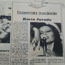 Coleccionismo de Revista Interviú: ROCIO JURADO ENTREVISTA INSOLENTE REVISTA REVISTA AÑO 1978. Lote 176968408