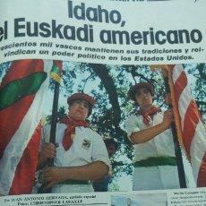 Coleccionismo de Revista Interviú: LOS VASCOS DE IDAHO EUSKADI AMERICANO IBIZA FORMENTERA SAL SALINAS SANIDAD REVISTA AÑO 1978. Lote 176969992