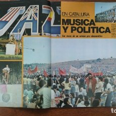 Coleccionismo de Revista Interviú: CATALUÑA MUSICA Y POLITICA SITGES FESTIVAL JAZZ CANET MAR SEIS HORAS CANÇO UNIVERSIDAD REVISTA 1976. Lote 176974954