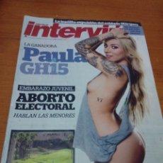 Coleccionismo de Revista Interviú: REVISTA INTERVIU. Nº 2029. MARZO DE 2015. PAULA . GANADARA DE GRAN HERMANO 15. B11R. Lote 178194028