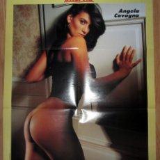 Coleccionismo de Revista Interviú: POSTER REVISTA INTERVIU MEDIDAS 88 X 57 ANGELA CAVAGNA DOBLE. Lote 179114363