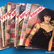Coleccionismo de Revista Interviú: INTERVIU - 12 REVISTAS DIFERENTES AÑOS 70 - VER FOTOS ADICIONALES. Lote 179957032