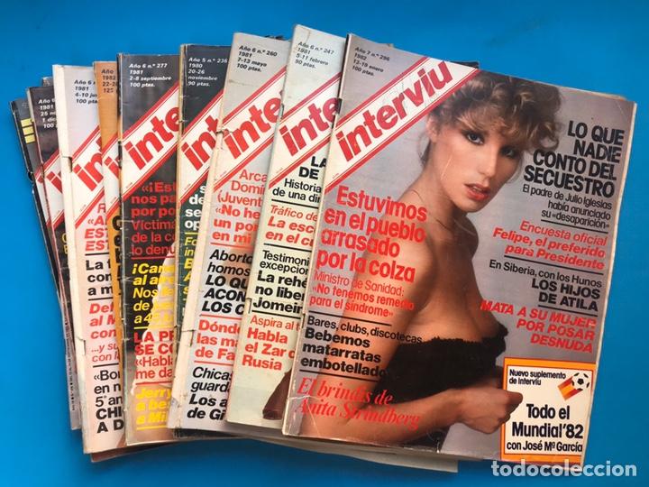 INTERVIU - 10 REVISTAS DIFERENTES AÑOS 80-90 - VER FOTOS ADICIONALES (Coleccionismo - Revistas y Periódicos Modernos (a partir de 1.940) - Revista Interviú)