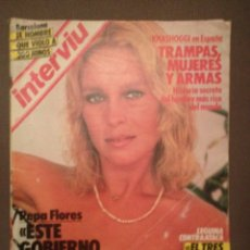 Coleccionismo de Revista Interviú: INTERVIÚ 465. PEPA FLORES -MARISOL , PATRICIA ADRIANI, LEGUINA, JESSICA LANGE,MARIVI DOMINGUIN,. Lote 180853850