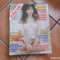 Coleccionismo de Revista Interviú: INTERVIU Nº 565, MARIBEL VERDU, LOS FUTBOLISTAS TAMBIEN NOS DROGAMOS, ACCIDENTE DE TXOMIN,. Lote 180935315