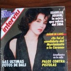 Collectionnisme de Magazine Interviú: INTERVIU N° 559. ISABELLE ADJANI. Lote 181946792