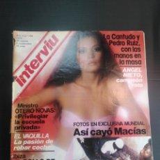 Coleccionismo de Revista Interviú: REVISTA INTERVIÚ AÑO 1979 PORTADA M J CANTUDO. Lote 182308045