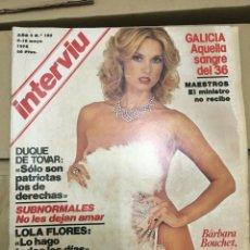 Coleccionismo de Revista Interviú: REVISTA INTERVIU #103 MAYO 1978 BARBARA BOUCHET ARRIANA. Lote 182959786