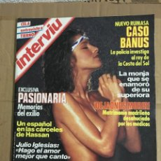 Collectionnisme de Magazine Interviú: REVISTA INTERVIU # 424 JUNIO 1984 JULIO IGLESIAS DR. BARNARD. Lote 183072557