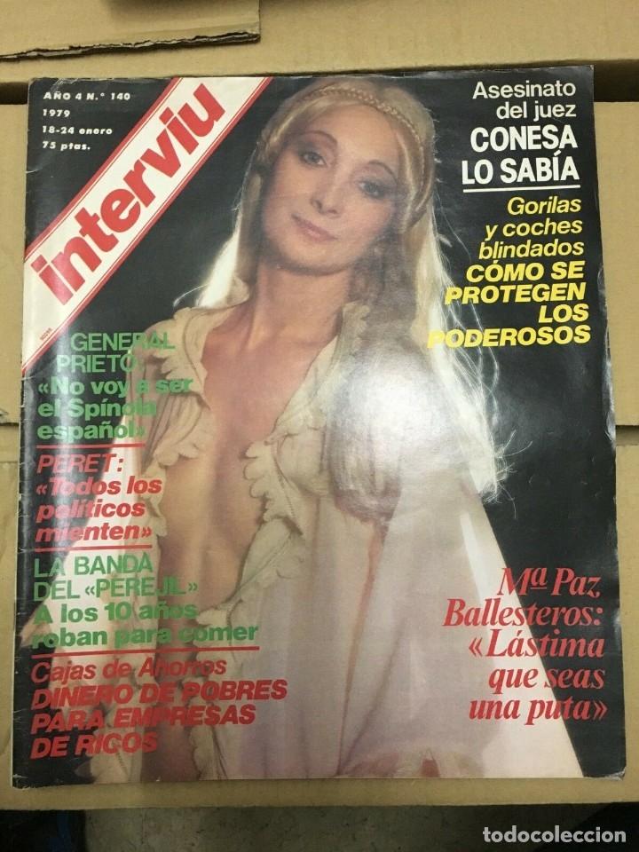 REVISTA INTERVIU ENERO 1979 # 140 MARI PAZ BALLESTEROS NICOLE ARRIBA GUNILLA (Coleccionismo - Revistas y Periódicos Modernos (a partir de 1.940) - Revista Interviú)