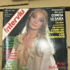 Coleccionismo de Revista Interviú: REVISTA INTERVIU ENERO 1979 # 140 MARI PAZ BALLESTEROS NICOLE ARRIBA GUNILLA. Lote 183074286