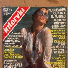 Collectionnisme de Magazine Interviú: INTERVIU EXTRA TERCER ANIVERSARIO (1978). SUSANA ESTRADA, LAUREN BACALL, FAMOSAS POR DETRÁS,... Lote 184232611