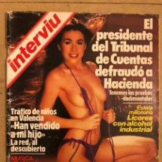 Coleccionismo de Revista Interviú: INTERVIU N° 408 (MARZO 1984). AMPARO LARRAÑAGA DESNUDA, TRÁFICO DE NIÑOS VALENCIA,.... Lote 184494400