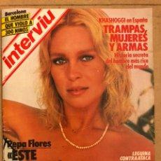 Collectionnisme de Magazine Interviú: INTERVIU N° 465 (ABRIL 985). PEPA FLORES (MARISOL), KHADOGGI, LEGUINA, MARIVÍ DOMINGUÍN,.... Lote 184498585