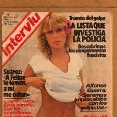 Collezionismo di Rivista Interviú: INTERVIU N° 336 (OCTUBRE 1982). AZAFATA UN DOS TRES, MARADONA, GOLPE ESTADO (CAMPAMENTOS FASCISTAS),. Lote 184581245
