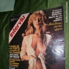 Coleccionismo de Revista Interviú: INTERVIU Nº 45 AÑO 1977.ALICIA TOMAS CUERNOS APARTE.. Lote 184614028