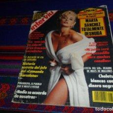 Coleccionismo de Revista Interviú: INTERVIÚ Nº 788. 6-6-91. MARTA SÁNCHEZ TOTALMENTE DESNUDA. DIFÍCIL.. Lote 185954197