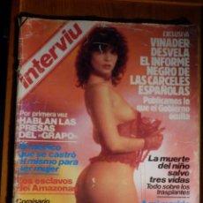 Coleccionismo de Revista Interviú: REVISTA INTERVIU - AÑO 9 Nº 412 - ABRIL 1984 - TERESITA LA MOJADA, ARANTXA MASCARON. Lote 186036652
