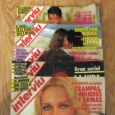 Coleccionismo de Revista Interviú: LOTE 17 INTERVIU 1985 A 1988 PEPA FLORES MARISOL ESTEFANIA DE MONACO SONIA BRAGA URSULA ANDRESS. Lote 186111277