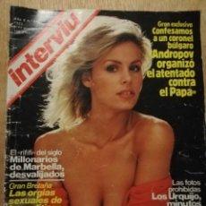 Coleccionismo de Revista Interviú: INTERVIU N° 347. LINDA EVANS. SECUESTRO QUINI. CRIMEN URQUIJO. Lote 187182726