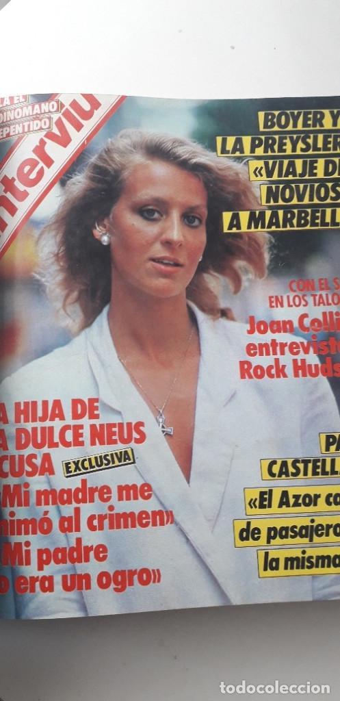 Coleccionismo de Revista Interviú: REVISTA INTERVIU 1985, 13 NÚMEROS: 478, 479, 480, 481, 482, 483, 484, 485, 486, 487, 488, 489, 490 - Foto 9 - 188731798