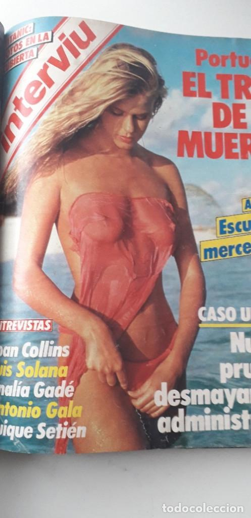 Coleccionismo de Revista Interviú: REVISTA INTERVIU 1985, 13 NÚMEROS: 478, 479, 480, 481, 482, 483, 484, 485, 486, 487, 488, 489, 490 - Foto 18 - 188731798