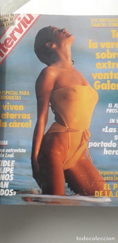 Coleccionismo de Revista Interviú: REVISTA INTERVIU 1987, 12 NÚMEROS: 595, 596, 597, 598, 599, 600, 601, 602, 603, 604, 605, 606 - Foto 5 - 188794138
