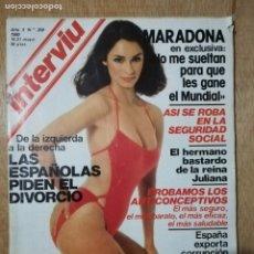 Coleccionismo de Revista Interviú: INTERVIU N° 209. MARADONA. LAS ESPAÑOLAS PIDEN EL DIVORCIO. ANTICONCEPTIVOS. Lote 190761073