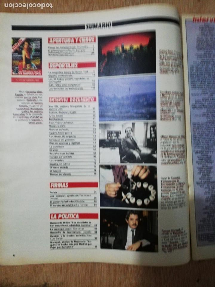 Coleccionismo de Revista Interviú: Interviu N° 511. GAL. Documento Las 200 mejores fotografías de la Guerra Civil. Madonna-bis (portada - Foto 2 - 190761665