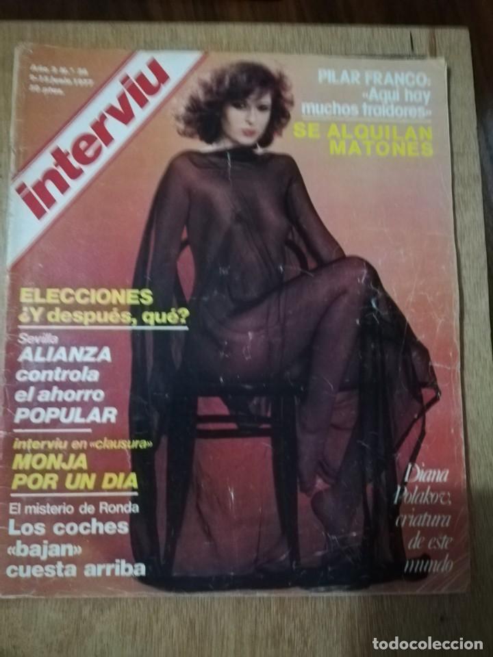 INTERVIU N° 56. DIANA POLAKOV (PORTADA). PILAR FRANCO (Coleccionismo - Revistas y Periódicos Modernos (a partir de 1.940) - Revista Interviú)