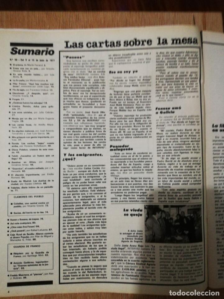Coleccionismo de Revista Interviú: Interviu N° 56. Diana Polakov (Portada). Pilar Franco - Foto 2 - 190822121