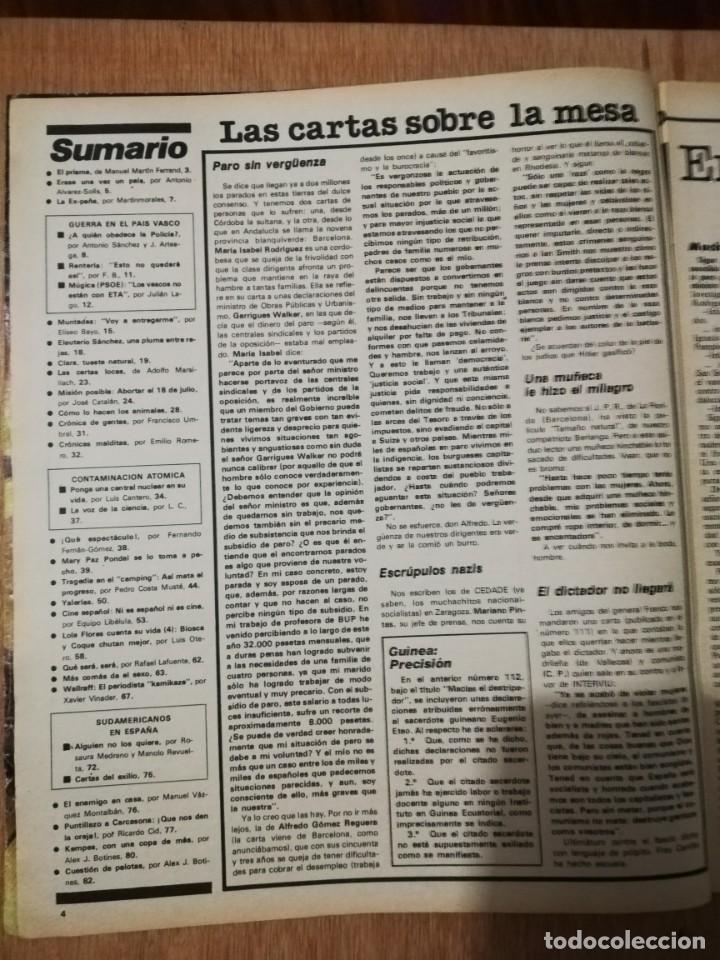 Coleccionismo de Revista Interviú: Interviu N° 114. Mari Paz Pondal (Portada). Kempes. Contaminación atómica. Lola Flores - Foto 2 - 190822640