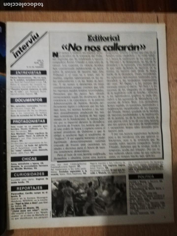 Coleccionismo de Revista Interviú: Interviu N° 352. Simone Mathieau (Portada). Dustin Hoffman. Ana Mariscal. Carrillo - Foto 2 - 190859161