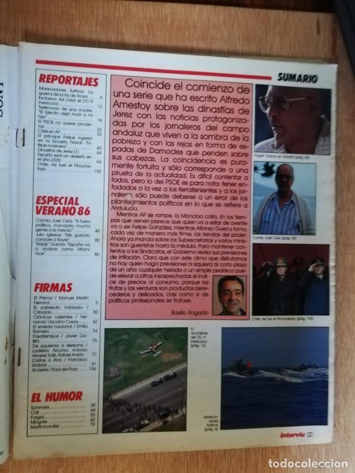 Coleccionismo de Revista Interviú: Interviu N° 539. Mariscadores furtivos. Dinastías de Jerez. Julio Iglesias. Cela - Foto 2 - 190974847