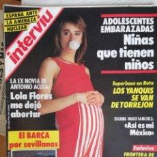 Coleccionismo de Revista Interviú: INTERVIÚ Nº 521. AÑO 11(1986). ADOLESCENTES EMBARAZADAS. POSTER FCB COPA DE EUROPA 85-86.. Lote 192720285