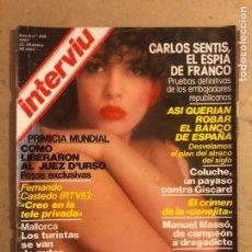 Coleccionismo de Revista Interviú: INTERVIU N° 245 (1981). CARMEN TITA CERVERA, CARLOS SENTIS (EL ESPÍA DE FRANCO), COLUCHE. Lote 194088668