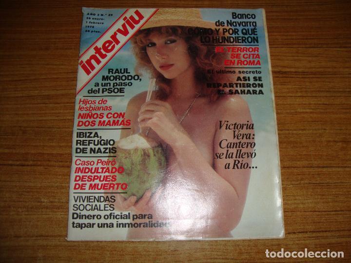 REVISTA INTERVIU AÑO 3 Nº 89 1978 RAUL MORODO BANCO DE NAVARRA VICTORIA VERA SUPLEMENTO PARLAMENTO (Coleccionismo - Revistas y Periódicos Modernos (a partir de 1.940) - Revista Interviú)