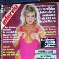 Coleccionismo de Revista Interviú: INTERVIÚ Nº 679. DIMITRA LIANI. VERTEDERO FONTSANTA. DULCE NEUS. Lote 194320751