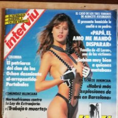 Coleccionismo de Revista Interviú: INTERVIÚ Nº 766. ROWANNE. ALDRIDGE. TRÁFICO DROGAS. INCLUYE CALENDARIO GIGANTE NEWTON. Lote 194404906