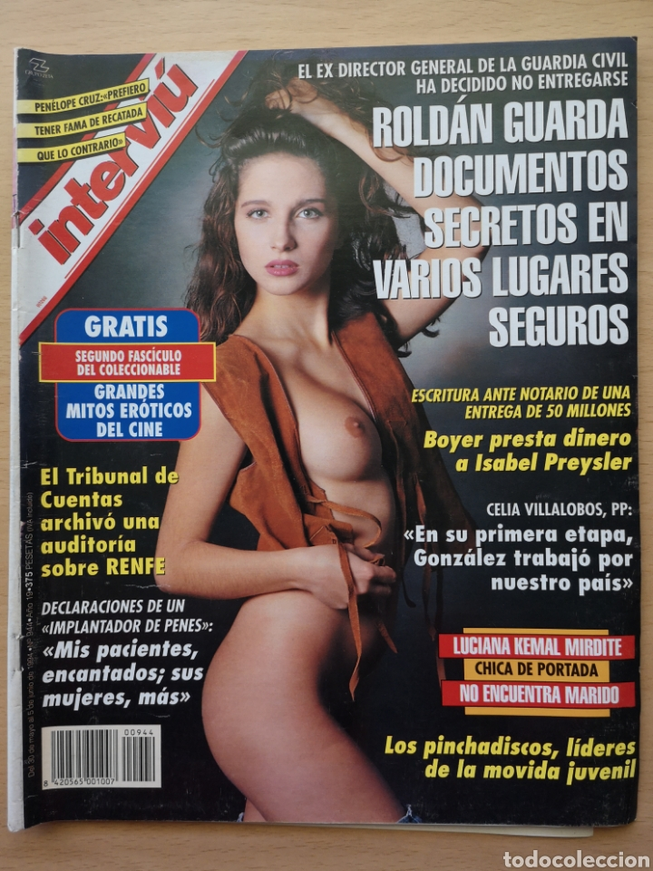 REVISTA INTERVIÚ Nº 944 1994 PENELOPE CRUZ, JOSE MARIA MANZANARES, SOFIA MAZAGATOS, VILLALOBOS (Coleccionismo - Revistas y Periódicos Modernos (a partir de 1.940) - Revista Interviú)