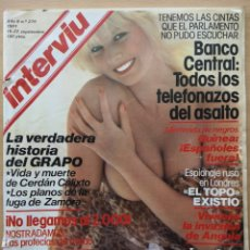 Coleccionismo de Revista Interviú: REVISTA INTERVIÚ Nº 279 1981 TRINIDAD BENIGANIM, SIBYLLE RAUCH, VICTORIA PRINCIPAL, CLIO GOLDSMITH. Lote 194685837