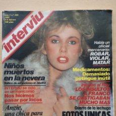 Coleccionismo de Revista Interviú: REVISTA INTERVIÚ Nº 299 1982 NINA GUTIERREZ, ANDREA ALBANI, ANGIE LAYNE, CARLOS ALONSO SANTILLANA. Lote 194686185