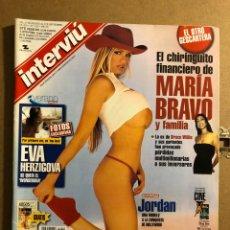 Coleccionismo de Revista Interviú: INTERVIU N° 1322 (SEPTIEMBRE 2001). JORDAN, EVA HERZIGOVA, MARÍA BRAVO, LOS DOMECQ SICARIOS. Lote 194969665