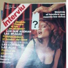 Coleccionismo de Revista Interviú: LOTE ANTIGUAS REVISTAS INTERVIU. Lote 196723462