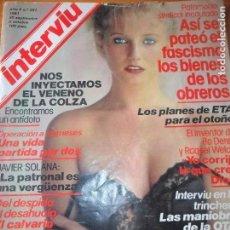 Coleccionismo de Revista Interviú: INTERVIU Nº 281 DE 1981- AMANDA HEARN, MASSIEL, REAGAN, PACO MORAN, JAVIER SOLANA, ETA,. Lote 197849673