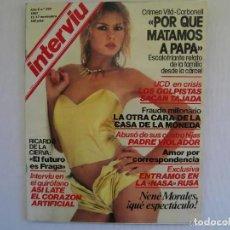 Coleccionismo de Revista Interviú: REVISTA INTERVIU 1981 AÑO 6 Nº 287 - NENÉ MORALES - CRIMEN VILÁ CARBONELL - RICARDO DE LA CIERVA. Lote 197850181