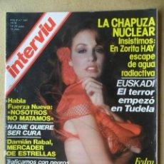 Coleccionismo de Revista Interviú: INTERVIÚ Nº 161 AÑO 1979 -FEDRA LORENTE-LA BOMBI-UN DOS TRES. Lote 197851680